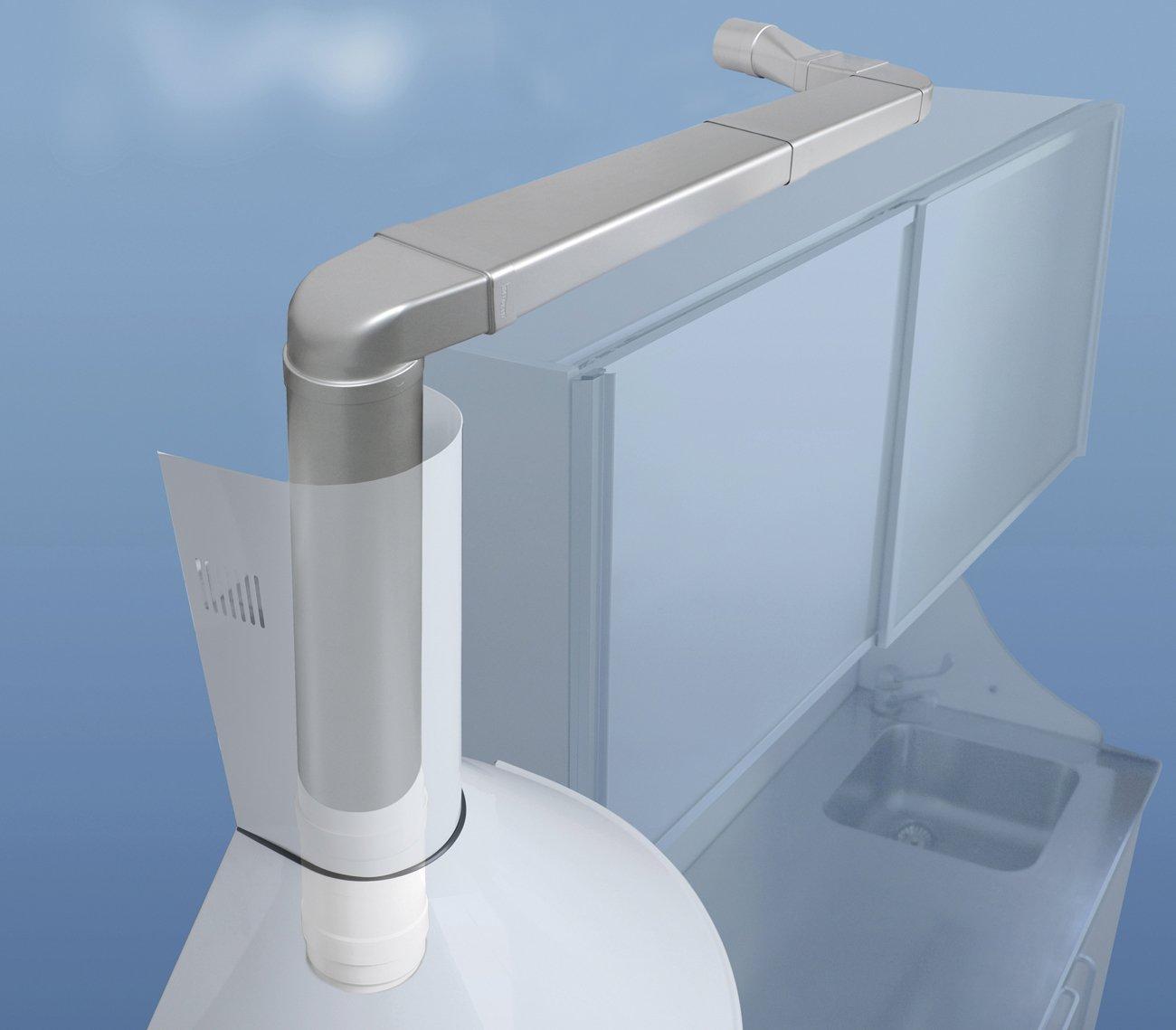 150/x 70/mm cromo satinado La ventilaci/ón stv2157ac-y Soporte fermatubo con tornillos y tacos para tubo rectangular
