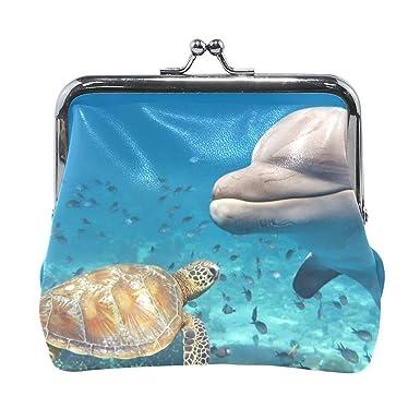 Amazon.com: Monedero de delfín con una tortuga de mar para ...