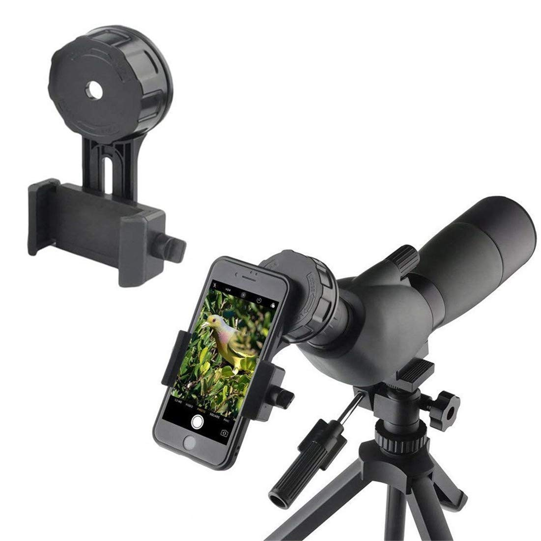Universal Cell Phone Quick Photography Adapter Mount for Smartphone Camera,compatible with Binoculars Monocular Spotting Scopes Telescopes and Microscopes