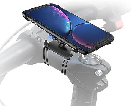 Gelink Soporte Movil Bicicleta, Universal Anti Vibración Soporte Móvil Moto, Giratorio 360 Grados, para iPhone X, XS | XS Max, XR, Samsung S9 y Otros Dispositivos 4.7