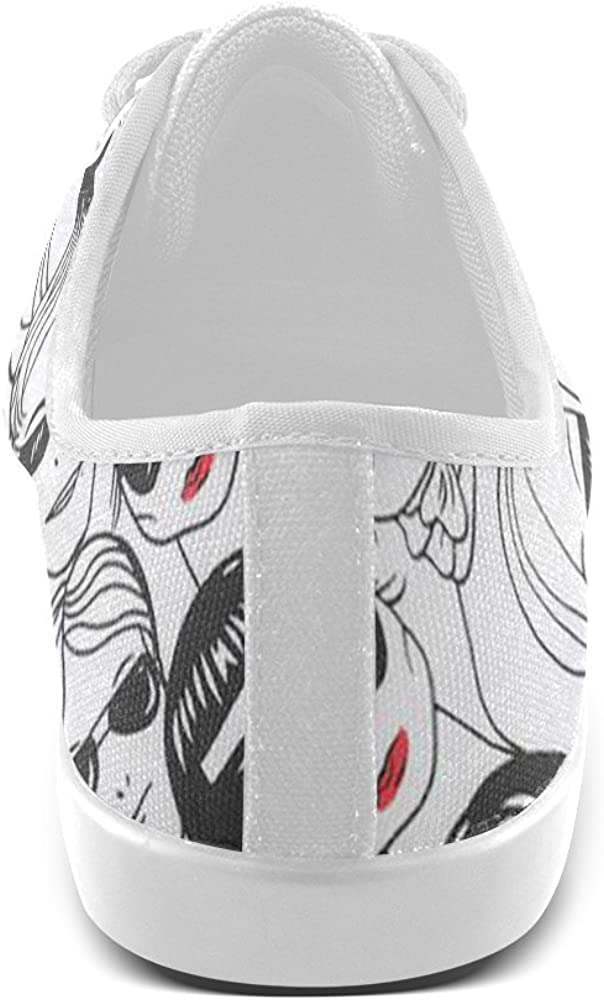 Drew Girls Red Lips Canvas Kids Unsixe Shoes Big Kids Little Kids US1-US5