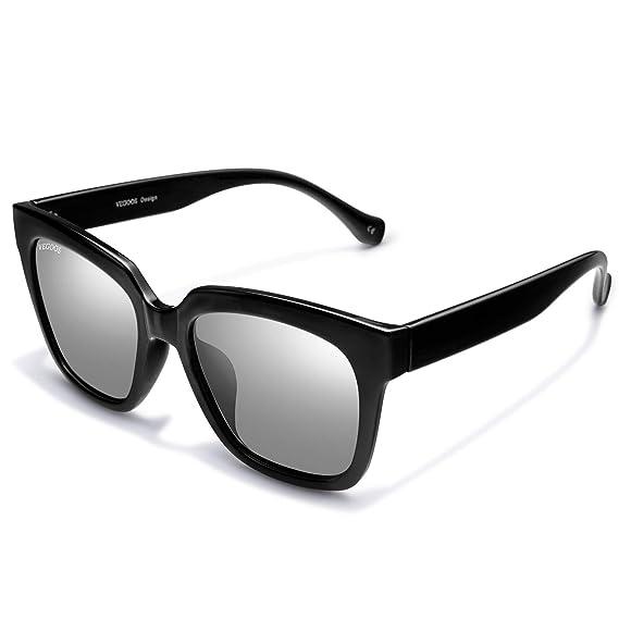 VEGOOS Gafas de sol para Hombre Mujer Polarizadas Clásico Retro Lentes de sol Hawkers 100% Protección UV