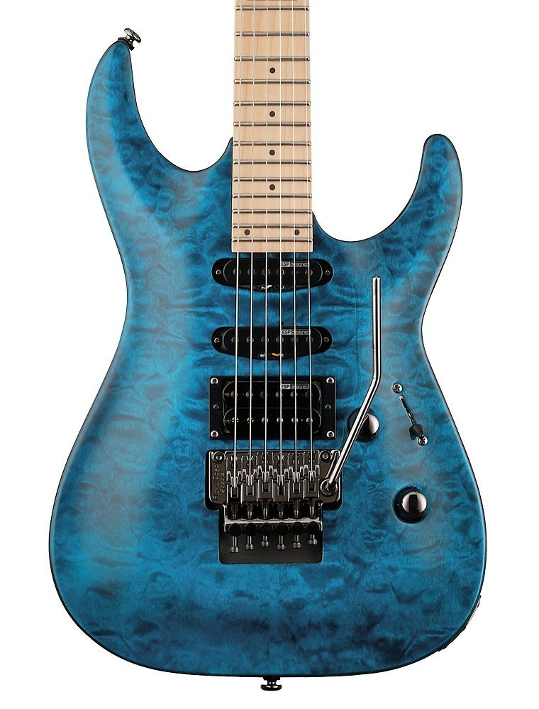 ESP LTD MH-103QM Electric Guitar, See Thru Blue M Esp Guitar Wiring Diagram on