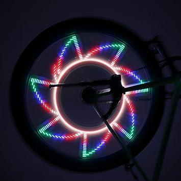 ICOCO 32 LED Auto Moto Ciclismo Bicicleta válvula de cubiertas para luz 2 modos de radios para bicicleta Llanta luces para MTB Rueda: Amazon.es: Deportes y ...