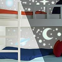 RoomMates RMK1141SCS Celestial Calcomanías de pared que brillan en la oscuridad, 258unidades