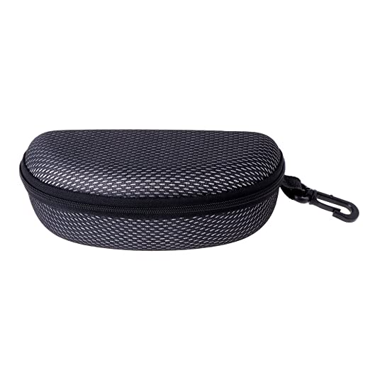 Fashion Portable Zipper Eye Glasses Sunglasses Clam Shell Hard Case Protector
