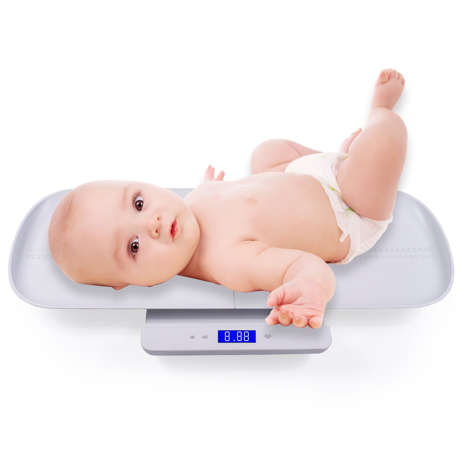 Multi-Function Digital Baby Scale with Weight and Height Track by HEALTHWOOD