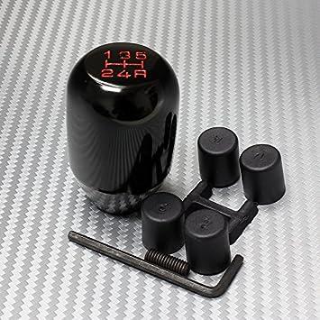 Shift Knob Black 5 Speed MT Universal Aluminum Gear Stick Shift Knob