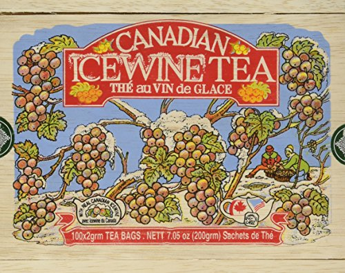 - Canadian Ice Wine Tea in Wood Box - 100 Tea Bags