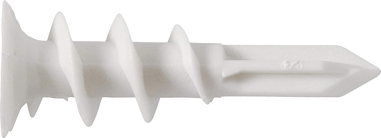 100-Pack The Hillman Group 375317 Number-8 Wallboard Anchor Nylon