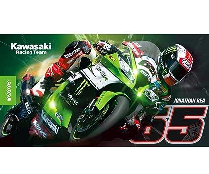 Kawasaki Toalla de playa. Baño (. Toalla Grande. Kawasaki Jonathan Rea # 65