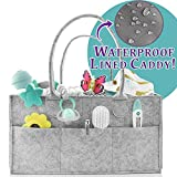 Baby Portable Diaper Caddy Organizer | Organization Bin | Holiday Gift Idea | Diaper Changing Table Organizer | Nursery Storage Caddy | Car Trunk Organizer | Cloth Storage Bin | H2O-PROOF LINER | SALE