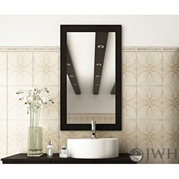 JWH Living Bathroom Mirror With Solid Wood Frame