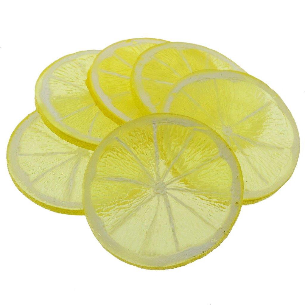 Gresorth-6pcs-Highly-Simulation-Fake-Yellow-Lemon-Slice-Artificial-Fruit-Model-Home-Party-Decoration