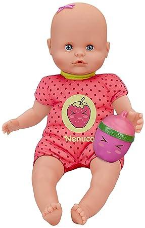 Nenuco Con Biberón Sonajero y Pijama Fresa, (Famosa 700012087)