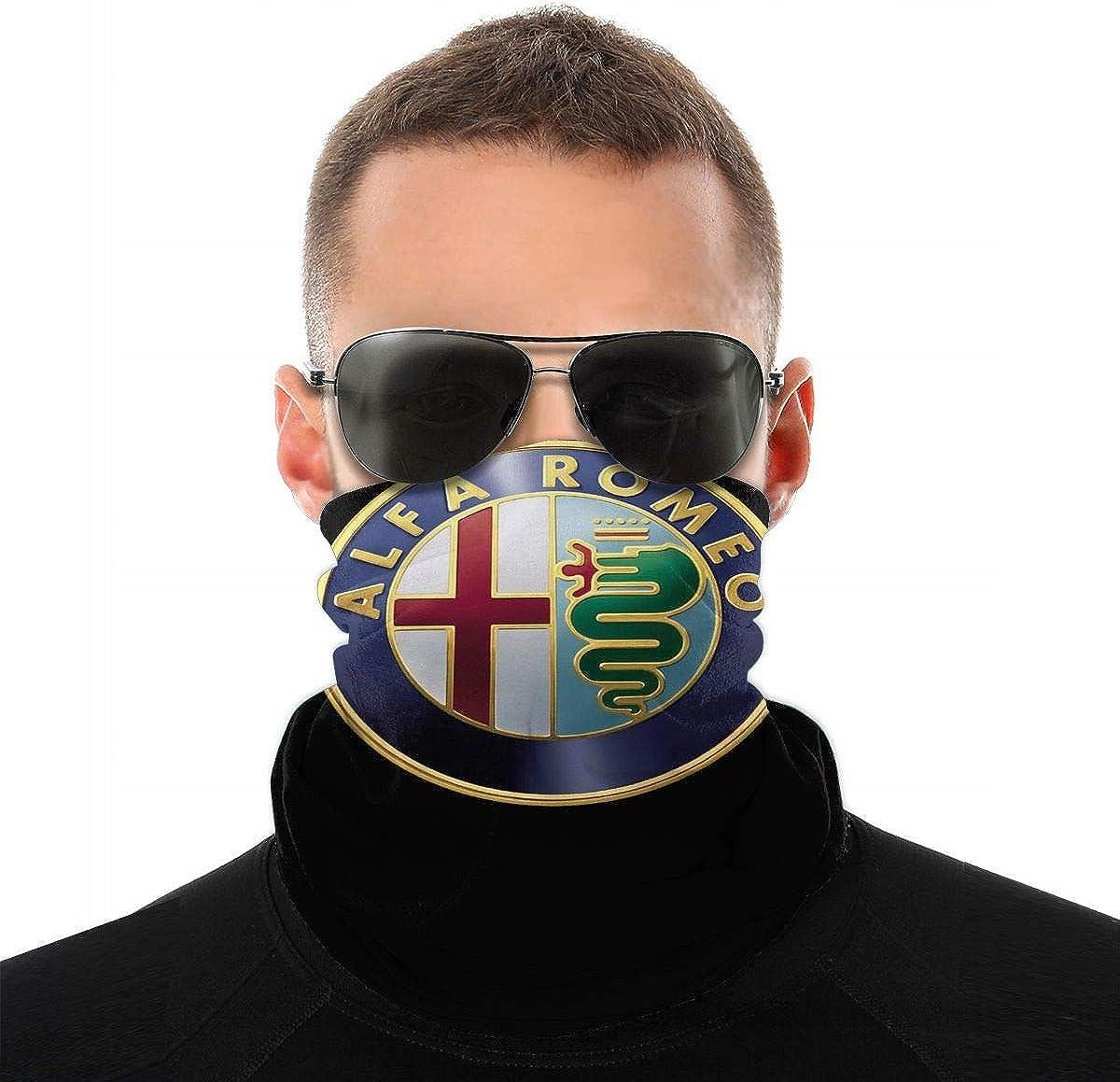 DianaLHodge Alfa Romeo Italy Italian Cars Auto Car Racing Unisex Windproof Balaclava Bandanas Face Mouth Variety Head Scarf White