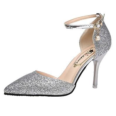 6fd213aa467a5d OSYARD Escarpin Femme Talon Haute 8.5 cm Bout Pointue Mode Chaussure Fête  Mariage