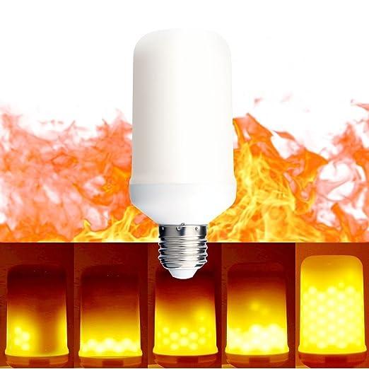Bombilla de efecto de fuego de llama LED, proyector de Navidad ...