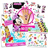 Disney Tattoos Party Favor Set For Girls -- Over 175 Temporary Tattoos Featuring Minnie Mouse, Disney Princess and Disney Fairies (12 Temporary Tattoo Sheets)