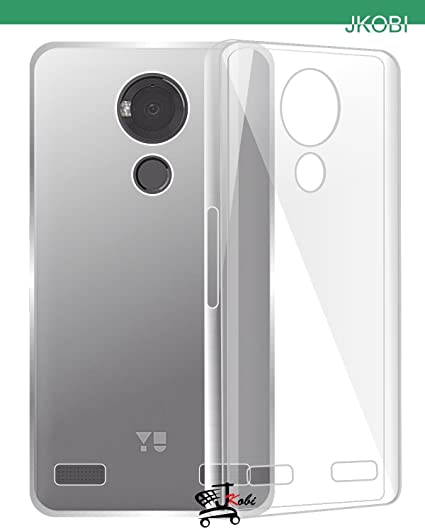 quality design 25176 75628 Jkobi Exclusive Soft Silicone TPU Jelly Crystal Clear Case Soft Back Case  Cover For YU Yureka Note (YU6000) - Transparent