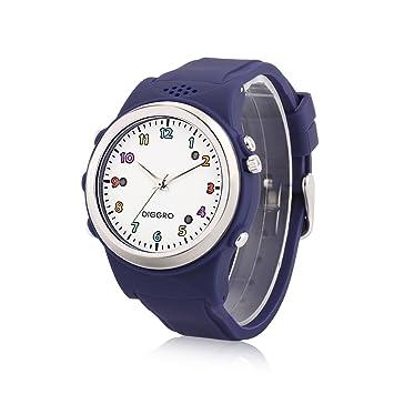 Diggro TD01-B - Smartwatch Para Niños Reloj Inteligente Infantil Pulsera Localizador (GPS, LBS, SOS Llamadas, Tarjeta SIM, para Android e IOS) (Azul)