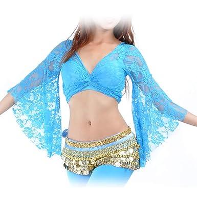 BellyLady - Traje tribal de danza del vientre, encaje mariposa ...