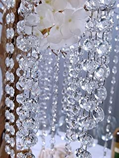 5 meter plastic chandelier crystal beads garland for wedding garland clear large crystal garland x 1 1 metre long aloadofball Choice Image