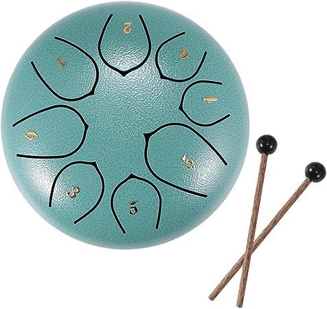 cubierta para dedos Tambores de hendidura tecla D de 6 pulgadas y 8 tonos Pink tambor Handpan con baquetas instrumento de percusi/ón para conciertos musicales bolsa tambor de leng/üeta de acero