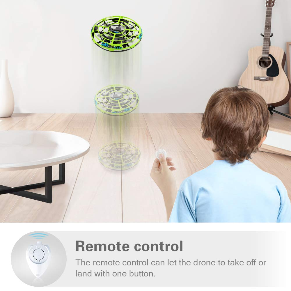 Baztoy Flying Ball RC UFO Drone Flying Saucer Toys Hand Controlled Mini Drone Remote Control Fly Toy New Birthday Gifts with Cool LED Light Indoor Outdoor for Kids, Adults, Girls and Boys by Baztoy (Image #4)