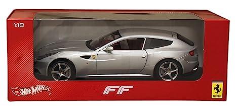 Hot wheels X5525 Ferrari FF Silver 1/18 Diecast Car Model by Hotwheels