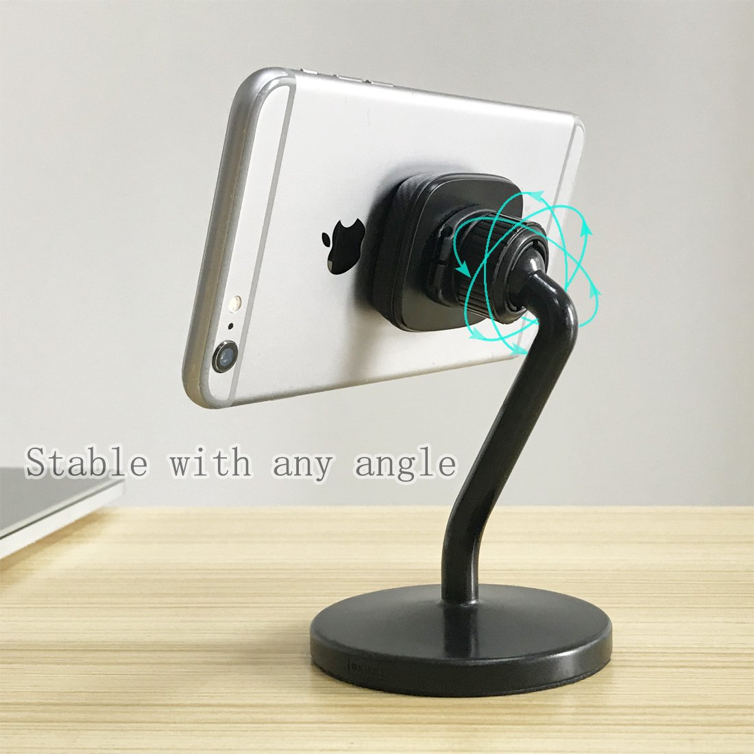 Magnetic Desk Stand Universal Smartphone Holder Mount for iPhone X XR 8 7 Plus Samsung BlackBerry Motorola LG Nexus and Other Smartphones Mini Tablets