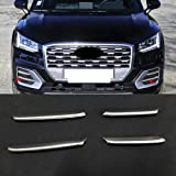 HIGH FLYING (Pls Check Picture 2 Before Order) 4PCS ABS Matte Car Front Fog Light Lamp Inserts Trim for Audi Q2 2016-2018