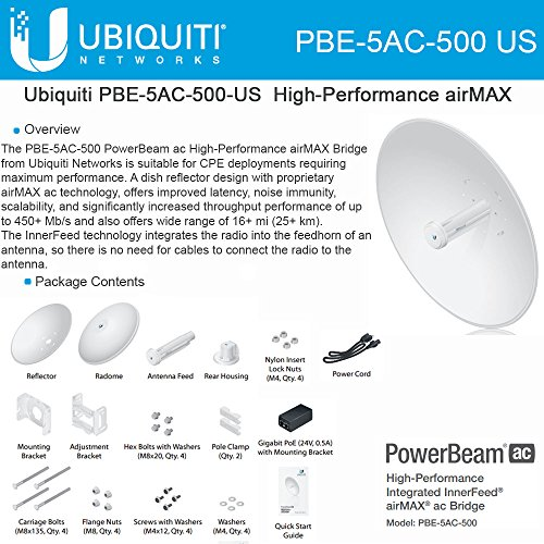 PowerBeam M5 500 AC by Ubiquiti Networks