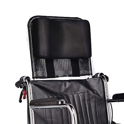 Reposacabezas para silla de ruedas, acolchado ajustable y portátil para adultos, accesorios para silla de ruedas de viaje de 40 a 50 cm, color negro