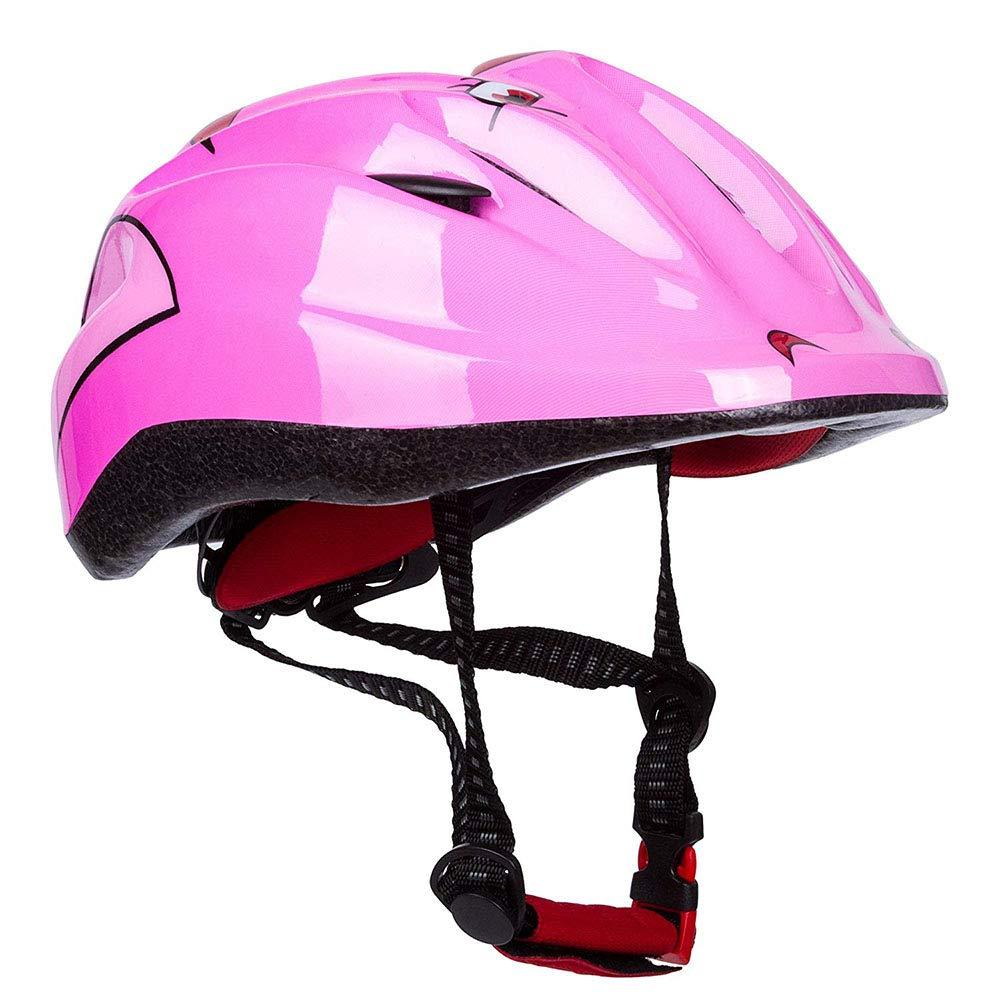 VISTANIA Seguridad Multi-Deporte Niños Niños Bicicleta Ciclismo Cascos Skate Scooter Rana Diseño para Niñas/Niños,Pink: Amazon.es: Deportes y aire libre