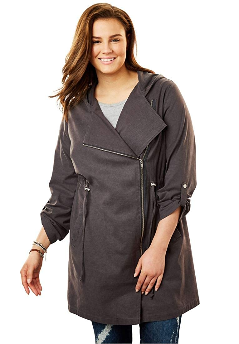 Woman Within Plus Size Lightweight Utility Jacket