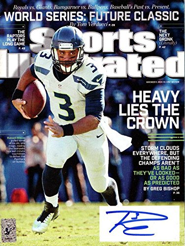 Russell Wilson Autographed Signed Sports Illustrated Magazine Seahawks Rw 94280 Autographed NFL Magazines