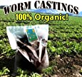 Earthworm Castings 25 Pounds - 100% Organic - Natures Soil Amendment for Indoors & Outdoors
