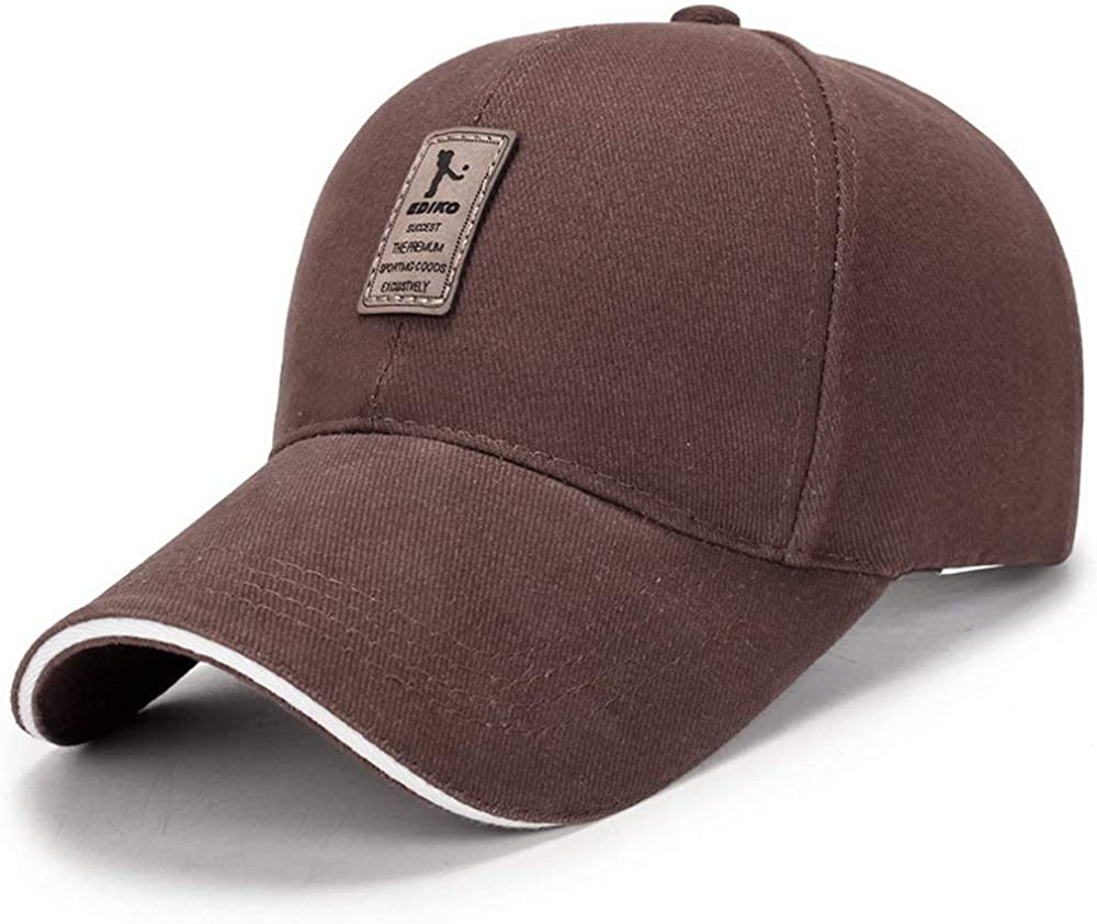 Eversell Mens Leather Lable Cotton Low Profile Summer Visor Baseball Caps