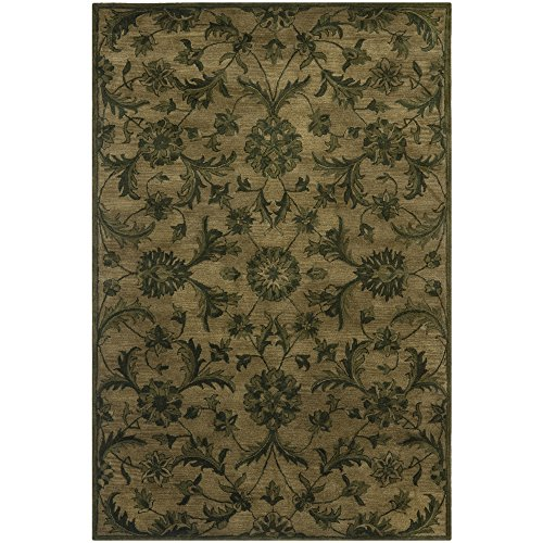 Safavieh Antiquities Collection AT824A Handmade Traditional Olive and Green Wool Area Rug (6' x 9') Green Handmade Transitional Rug