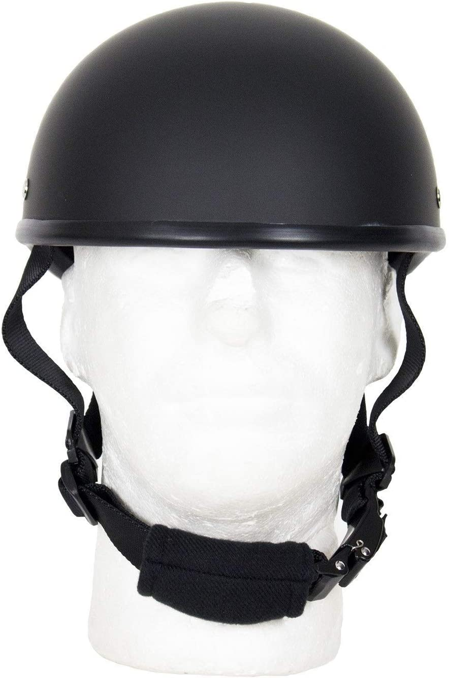 MONACO TRADERS SOA Beanie Novelty Flat Black Motorcycle Half Helmet Cruiser Biker S,M,L,XL,XXL