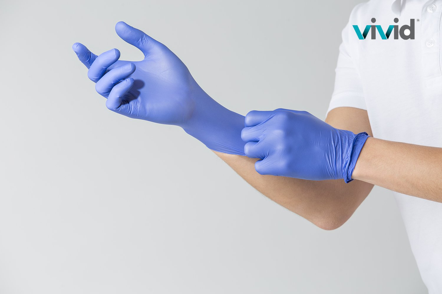 VIVID StyleTouch Purple Nitrile Latex Non Sterile Gloves – for Home, Medical, Professional Use – Disposable – Food Safe, Rubber Free – 2.7 mil, Pack of 300 (Large), StyleTouch by Vivid (Image #3)