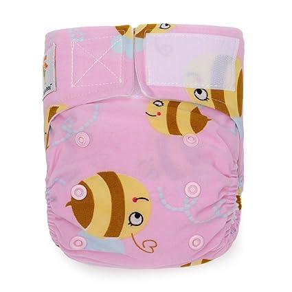Kawaii bebé recién nacido reutilizable Pañales de tela Pure ...