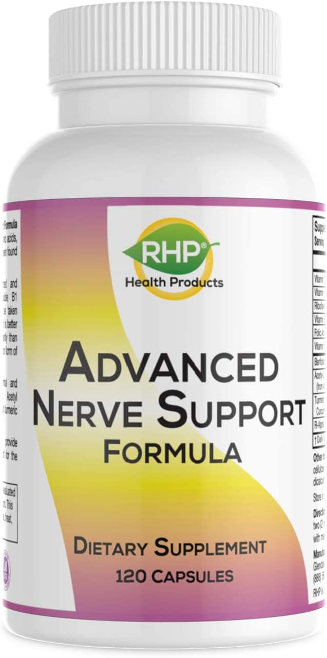 Advanced Nerve Support Formula. Comprehensive Nutritional Support for Neuropathy Pain Relief. 120 Capsules
