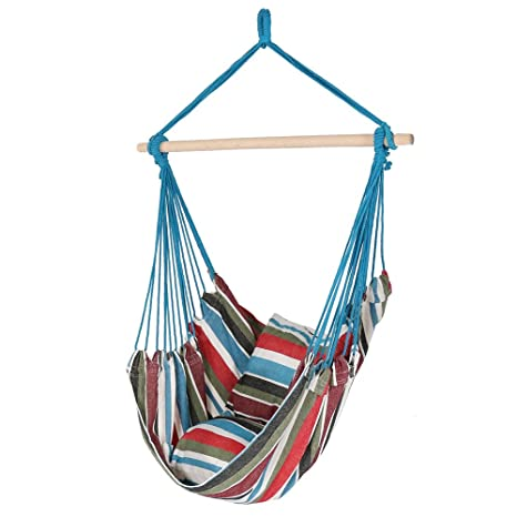 Sunnydaze Hanging Hammock Chair Swing, Cool Breeze, For Indoor Or Outdoor  Use, Max