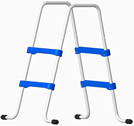 Well2wellness® Escalerilla para Piscina Piscina Escalera - 2 Peldaños 109/76 cm (024287): Amazon.es: Hogar