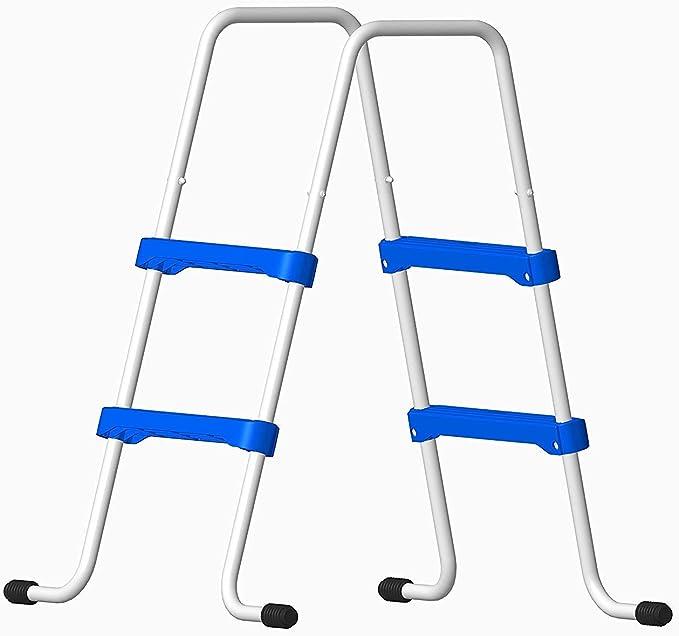 Well2wellness® Escalerilla para Piscina Piscina Escalera - 2 Peldaños 109/76 cm (024287): Amazon.es: Hogar