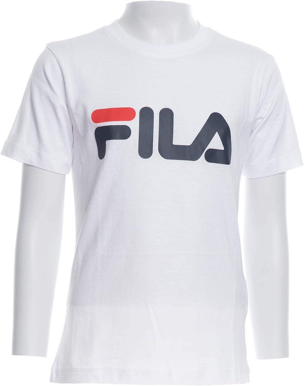 Tee Shirts Manches Courtes Fila 687196 Classic Logo Noir