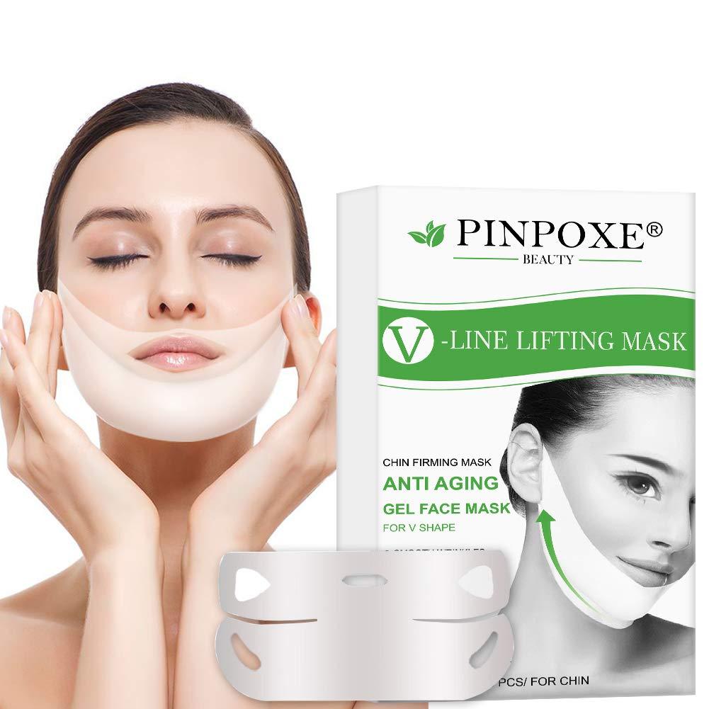 V Face Masks, V Line Mask, Chin Up Patch, Facial Anti-Wrinkle Mask, Double Chin Reducer Lifting Face Mask, V-shape Facial Moisturizing Firming Mask, 5pcs