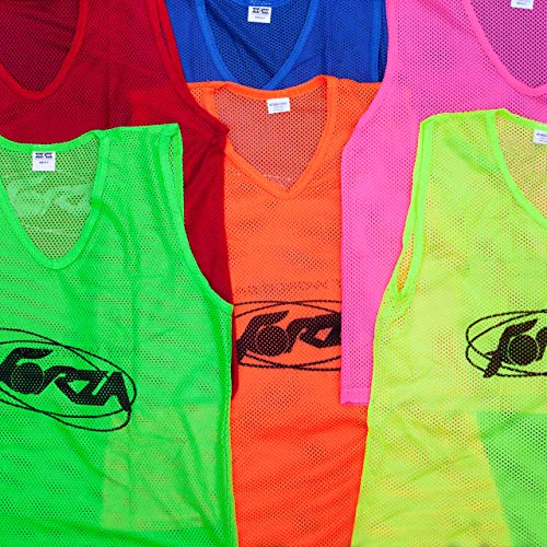 (Net World Sports Soccer Training Pinnies/Vests [3 Pack] (3. Florescent Green, 1. Extra Large))
